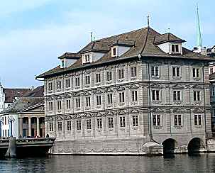 Zurich: townhall (1694-98; late Renaissance / early Baroque style)